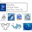 Personalized DOLPHIN DOLPHINS ADDRESS LABELS