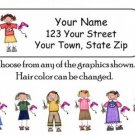Personalized HAIRDRESSER ADDRESS LABELS Hair Stylist