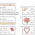 Personalized ROSES ROSES ROSES ADDRESS LABELS