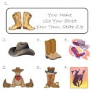 Personalized COWBOY HAT / BOOTS / HORSE ADDRESS LABELS