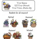 Personalized SEASONAL Country BASKETS ADDRESS LABELS
