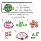 Personalized GO GREEN ADDRESS LABELS - Earth / Garden