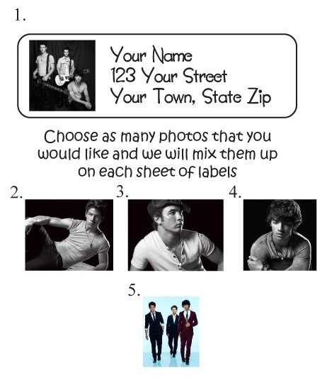 Personalized JONAS BROTHERS ADDRESS LABELS - Very New