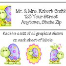 Personalized Cutest Little TURTLES Ever Address LABELS