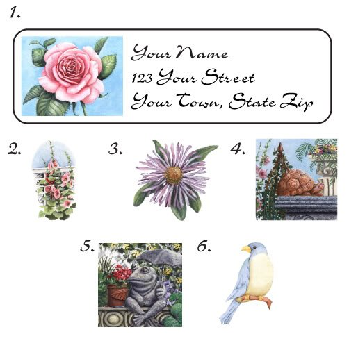 Personalized Walk in the GARDEN ADDRESS LABELS - New