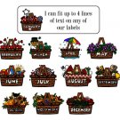 Personalized BASKET a Month ADDRESS LABELS Seasons