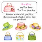 Personalized PURSES HATS SHOES ADDRESS LABELS Girlie