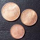 2006 San Marino 1 + 2 + 5 Euro Cents