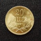 1922 20 filler Brass Restrike Hungary