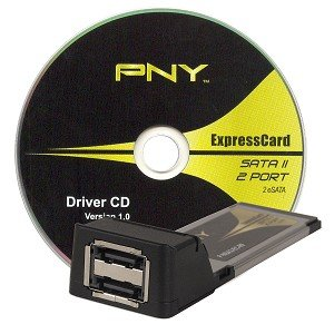 PNY 2-Port eSATA II ExpressCard/34 Adapter for Laptops