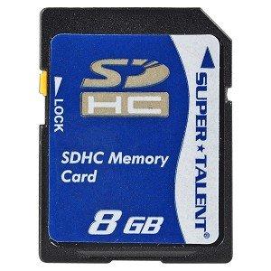 Super Talent 8GB SDHC Memory Card