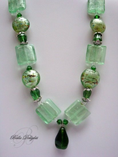 Frosted Lime Necklace