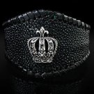 Royalty Collection Crown Stingray Z Cuff Bangle