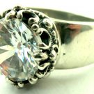 Royalty Collection Sterling Silver Clear Stone CZ Ring