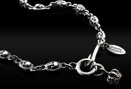 Royalty Collection 925 Sterling Silver Standard Skull Chain Necklace