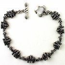 Royalty Collection 925 Sterling Silver Gothic Crown Bracelet
