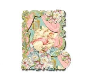 3-D Baby Card with Glitter