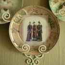 Collector Plate with Vintage Decoupage Winter