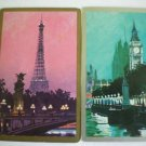 Vintage Eiffel Tower and Big Ben Swap Cards