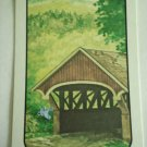 Vintage Covered Bridge with Blue Jay Swap Playing Card