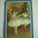 Vintage Playing Card Ballerina Ballet Degas