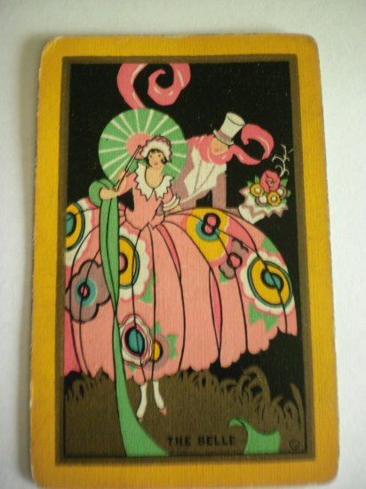 Art Deco Lady The Belle Playing swap Card