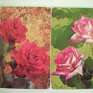 Vintage Painting Roses Playing Swap Cards