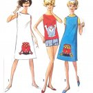 Sassy Mod Fun Fad Gonk Skimmers Dress Shorts 60's Simplicity Vintage Sewing Pattern 10Teen Bust 30