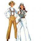Sassy Mod 60s Suspender Pants with Hem Pleat Simplicity 8547 Vintage Pattern Waist 23