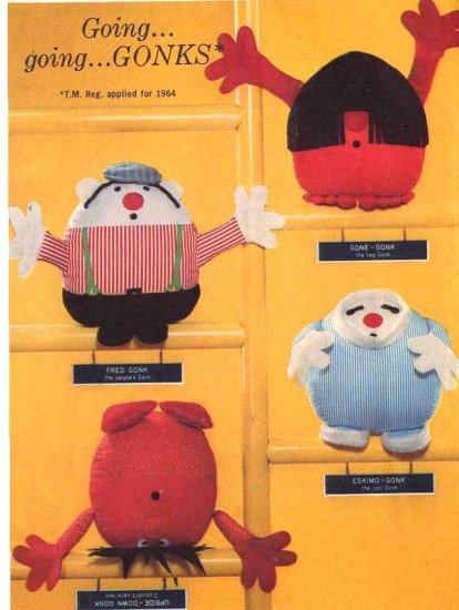 Spunky Mod 60s Gonks Cloth Dolls Toys Simplicity 5943 Vintage Pattern