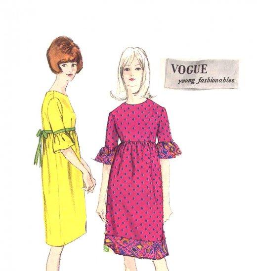 Mod Vogue Young Fashionables Twiggy High Waist Dress Bust 36 Vintage 1960's