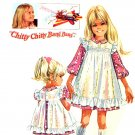 Sweet 60's Chitty Chitty Bang Bang Jemima Dress Pinafore Pattern Simplicity 8120 Size 3