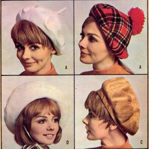 2f64d39ea4a Sassy Mod 60 s Four Berets McCall s 9448 Vintage Hats Sewing Pattern
