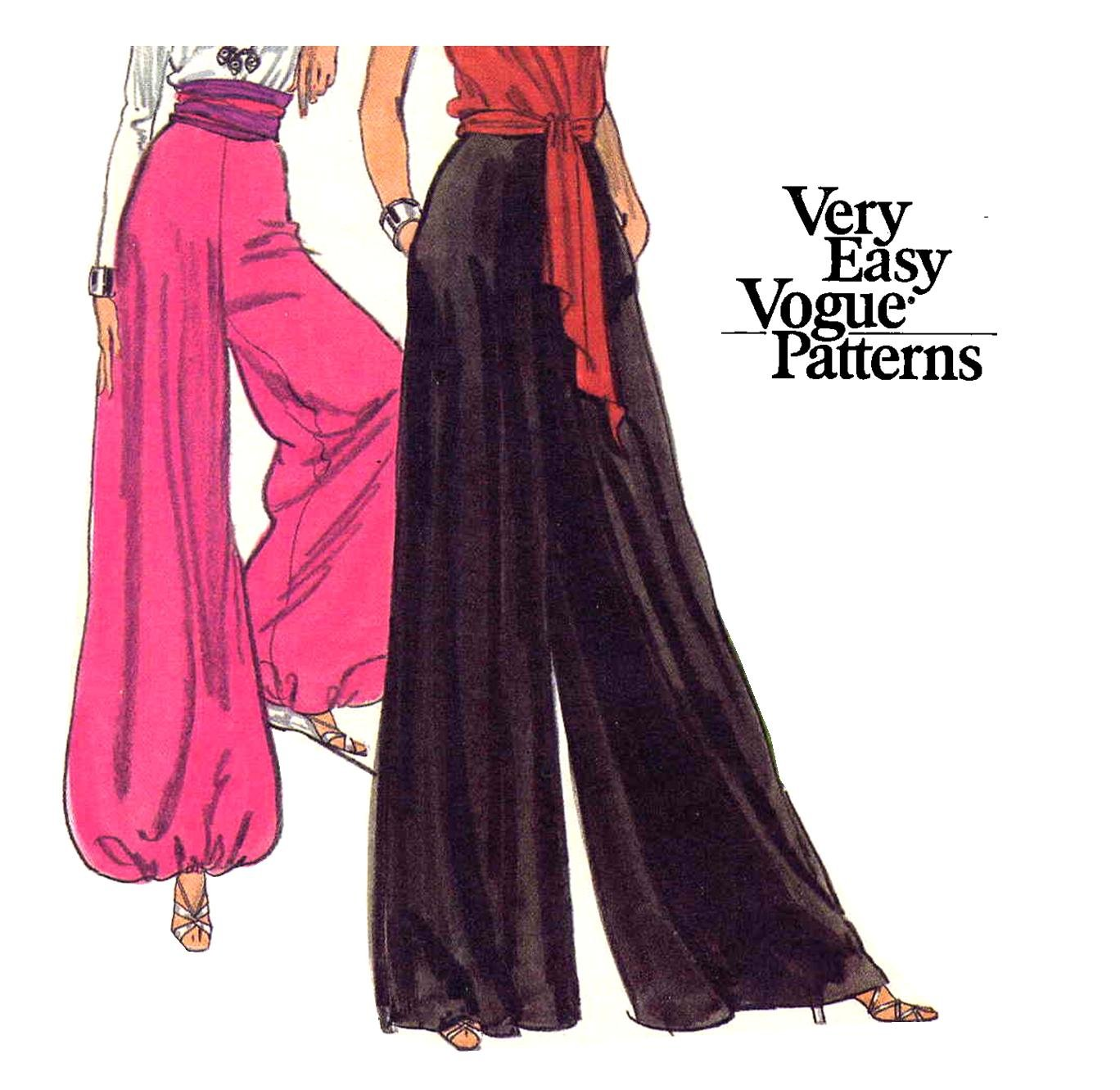 disco 70s vogue palazzo or harem pants and skirt vintage