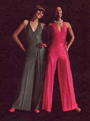 8efbdb92b Disco 70s Wrap and Go Halter Top and Pants Butterick 6909 Vintage ...