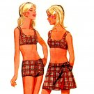 Sassy Mod 60s Bikini and Mini Wrap Skirt Butterick 4840 Vintage Pattern Bust 34