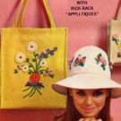 Sassy Mod 60s Rick Rack Flower Trim Floppy Hat and Shoulder Bag Vintage Simplicity 6430