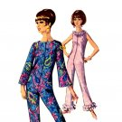 Sassy Mod 60s Bell Bottom Lounge Pajamas Simplicity 6793 Vintage Pattern Bust 32