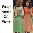 Easy 70's Wrap and Go A Line Skirt Butterick 4041 Vintage Sewing Pattern Waist 30