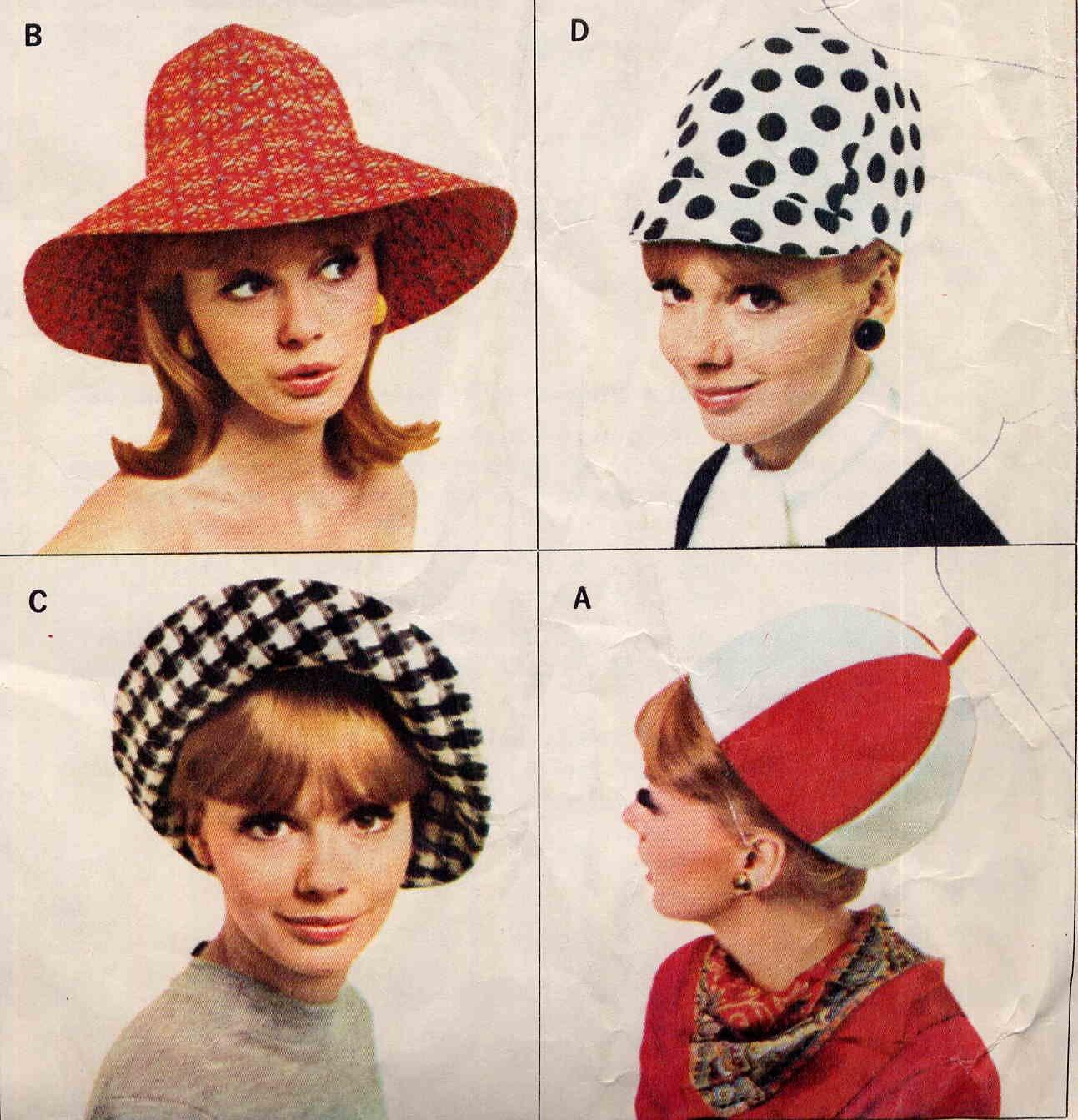 Sassy Mod '66 Hat Wardrobe Pattern McCalls 8254 1960's