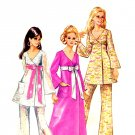 Sassy Mod 60s Front Wrap Empire Dress and Pants Simplicity 8505 Vintage Pattern Bust 32.5