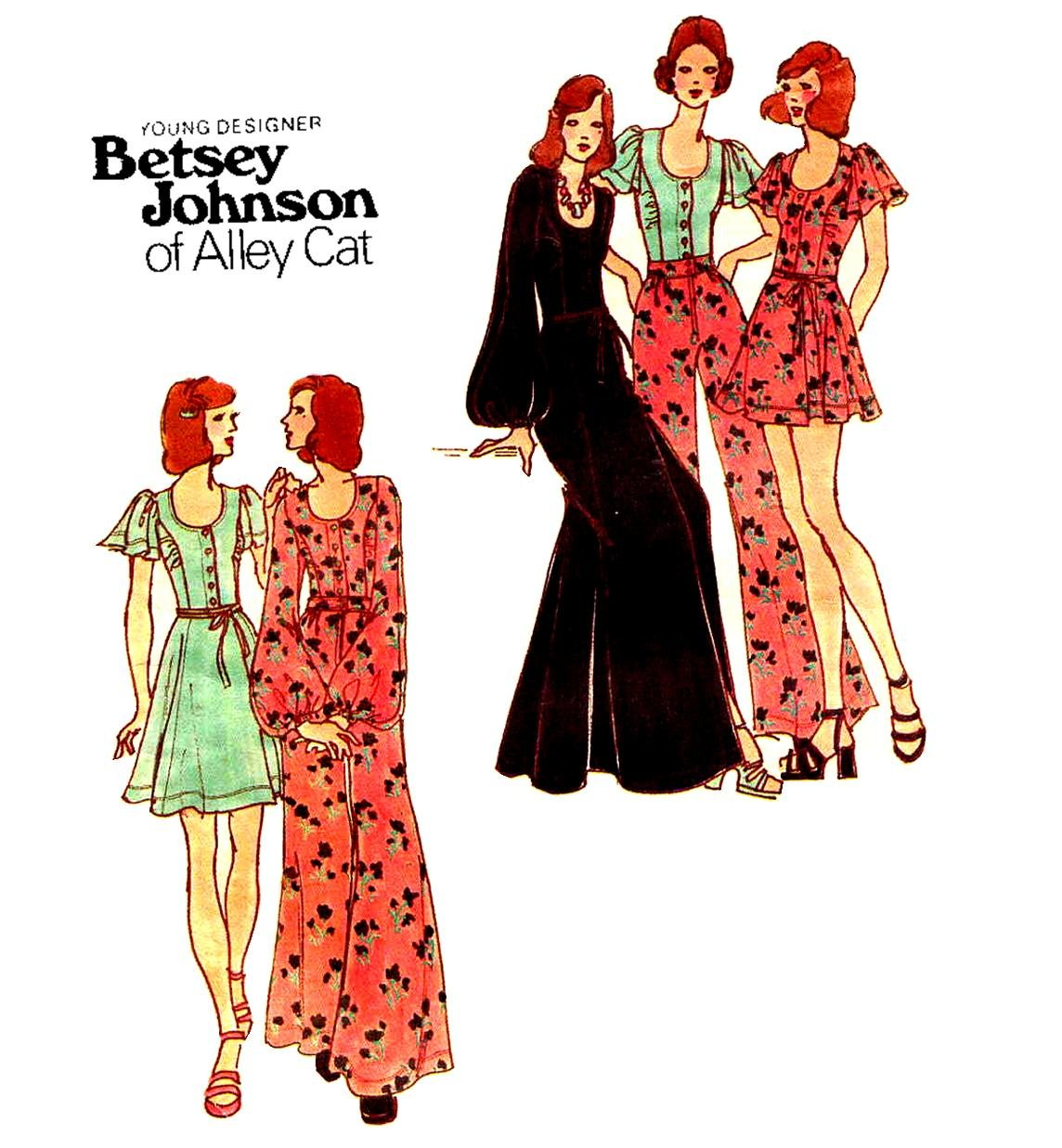 Sassy 70's Betsey Johnson Vintage Sewing Pattern Wrap Skirt, Pants, Top Butterick 6979 Bust 32.6