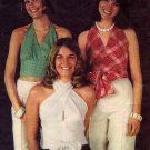Easy 70s Wrap and Go Halter Tops Butterick 3102 Vintage Sewing Pattern Bust 34