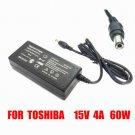 15V 4A 60W AC Adapter Toshiba PA3282U-1ACA PA2444U Satellite 200