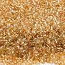 Silver Lined Tan 11/0 Glass Seed Beads 1/4 lb