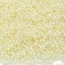 Color Lined Creamy Yellow 11/0 Glass Seed Beads 1/4 lb