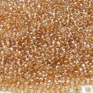 Transparent Luster Amber 11/0 Glass Seed Beads 30 grams