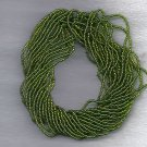 Copper Lined Lime Green Czech 11/0 Glass Seed Beads HANK