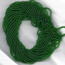 Transparent Medium Green Czech 11/0 Glass Seed Beads HANK