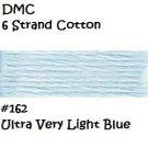 DMC 6 Strnd Cotton Embroidery Floss Ultra Light Blue 162